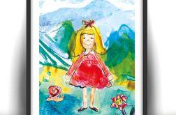 Dziewczynka - obrazek do dziecięcego pokoju