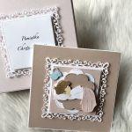 Kartka na Chrzest Święty w pudełku pink - zdjęcie 1