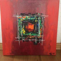 Obraz abstrakcja 40x40