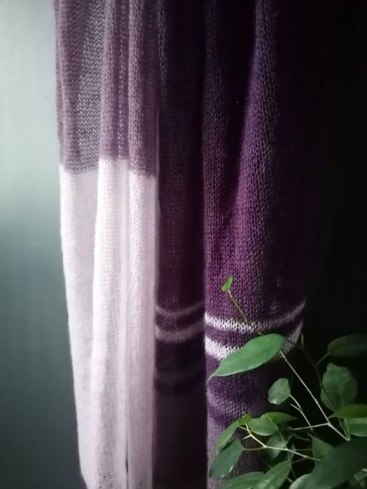 szal mohair jedwab violet