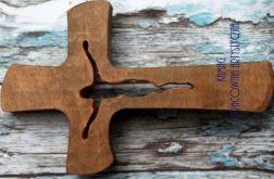 Krzyż z drewna jasny