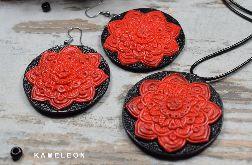 Komplet biżuterii Czerwone Mandale