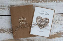 Oryginalna kartka ślubna i pudełko a10