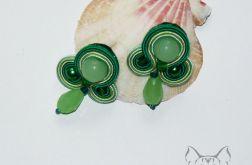 Małe kolczyki sutasz - zielone