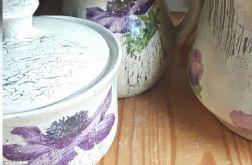 Zestaw kuchenny ceramiczny Zawilce w dzbanie