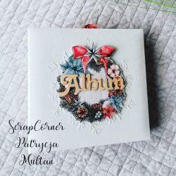 Album świąteczny ręcznie robiony