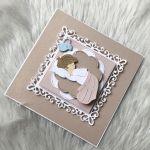 Kartka na Chrzest Święty w pudełku pink - zdjęcie 4