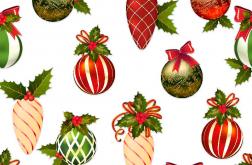TKANINA DEKORACYJNA Bombki Boże Narodzenie
