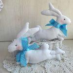 Zajączek kicający ozdoba dekoracja Wielkanoc