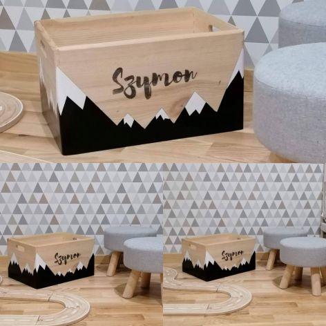 Pudełko skrzynka pojemnik na zabawki GÓRY