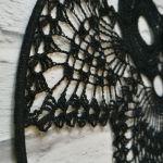 Szydełkowa dekoracja- czarna sowa - sowa sówka