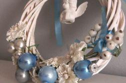 stroik świąteczny błękitny