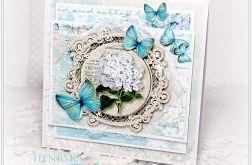 Kartka z życzeniami - Niebieskie motyle