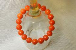 5.Bransoletka ze szklanych koralików 10mm