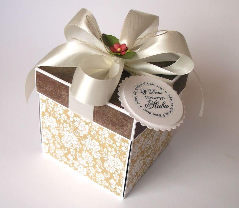 Pudełko na ślub Klasyczny beż