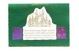 Zielona kartka świąteczna vintage  nr 3