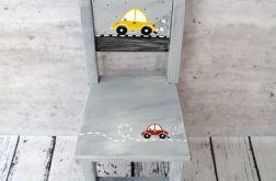 szare krzesełko z oparciem auto