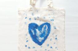torba bawełniana z serduszkiem nr 15 eko