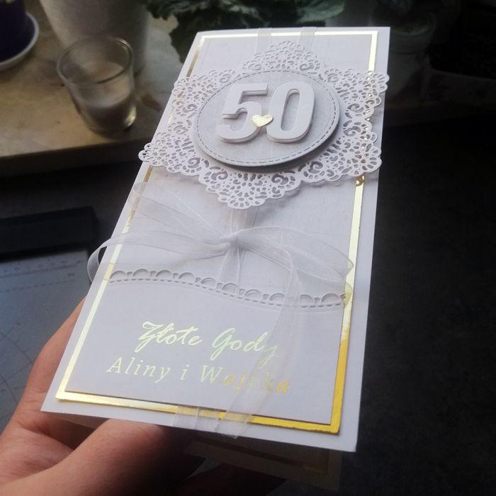 Kartka na rocznicę biało złota PRS 030 - Kartka na rocznicę biało złota 2