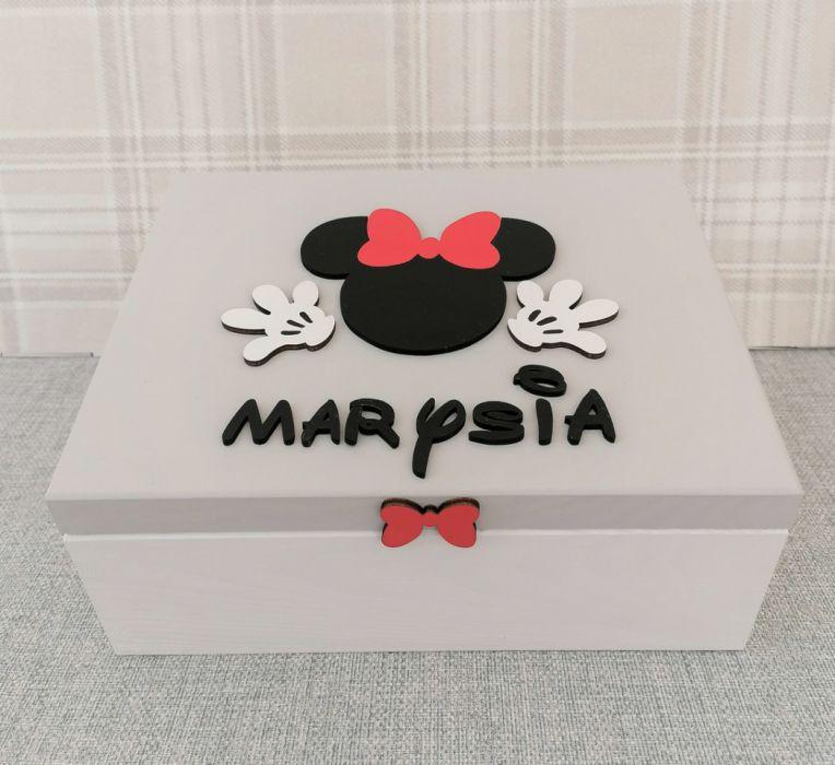 Pudełko bez przegródek z imieniem - MmC14 - kuferek dla dziewczynki