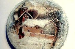 Bombka medalion zimowe widoki 1
