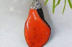 Wisior ceramiczny - mandarynowyIII