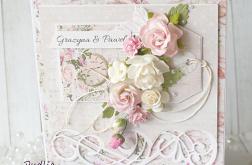 Kartka ślubna w różach v.7
