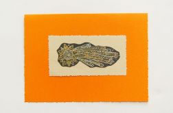Kartka oranż -gwiazda betlejemska