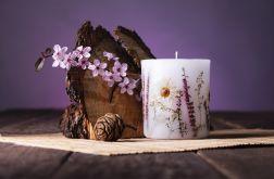 Dla Mamy-świeca z naturalnymi kwiatami-rumian