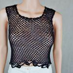 Bluzka-top Hand Made czarna