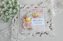 Ślubna kartka w pudełku 161