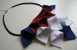 Naszyjnik filcowe rożki na rzemyku
