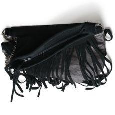 Ciemno brązowa skórzana torba na ramię