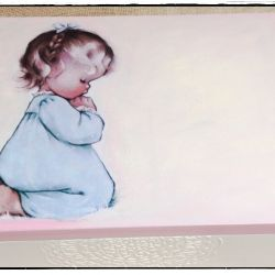 Modląca się dziewczynka 30x40 kufer, Chrzciny