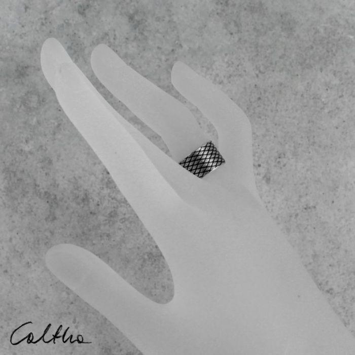Rybia łuska - srebrna obrączka 130620-11 - Srebrna obrączka