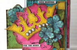 """Kartka """"Dla królowej"""""""