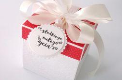 Pudełko na ślub Czerwone kropeczki