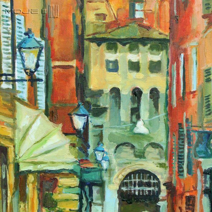 Ulica Bolonii - obraz na płótnie