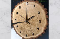 Zegar z plastra drewna - dąb 40cm