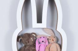 Półka na książki zabawki KRÓLIK | biały