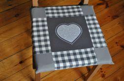 Poduszki na krzesła,siedziska - szare napisy