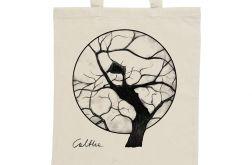 Drzewo - torba z nadrukiem ecru