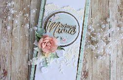 Kartka dla Mamy Dzień Matki Mint Love GOTOWA