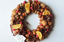 Wianek świąteczny z pomarańczami