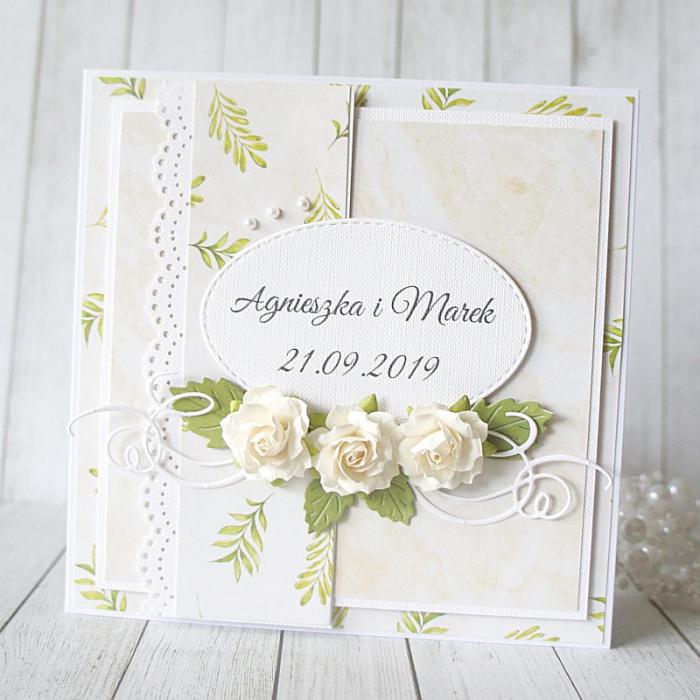 Kartka na ślub w pudełku v.11