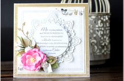 Kartka z kwiatami ślub wesele