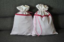 Podróżny woreczek na bieliznę - różowy w paseczki