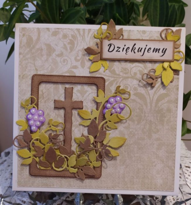 Podziękowanie dla księdza, katechety Komunia - Pudełka do kartki