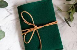 Filcowa okładka na książkę A4 zielona.