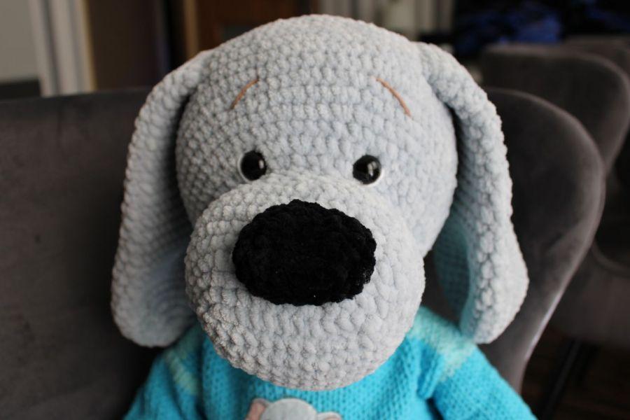 Bąbelek szydełkowy pies - dla dziecka
